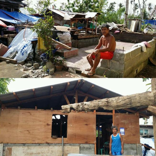 Images by Ann - After Typhoon Yolanda hit & after the rebuild support.