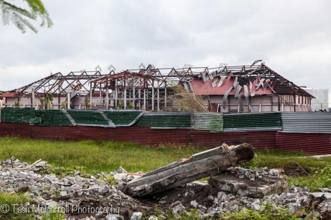 Roofs peeled back