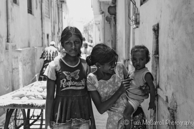 Friendly children in the alleys
