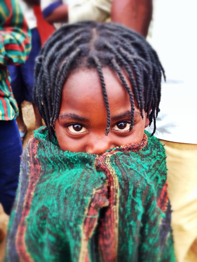 A sweet young girl who came walking up all curious outside a local school (iPHONEOGRAPHY) Rwanda (July 2014)