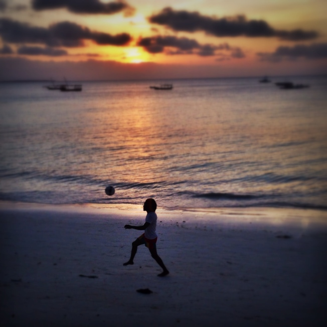 Juggling down the beach, Zanzibar Tanzania (October 2014)