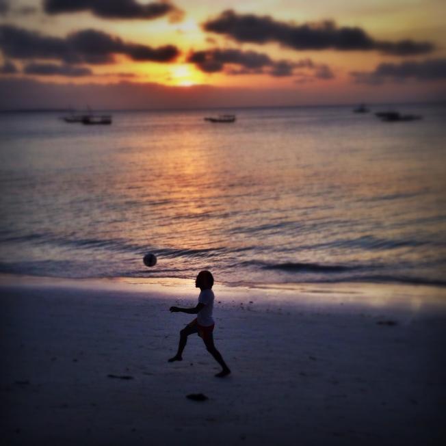 Juggling down the beach, Zanzibar Tanzania (October 2014)