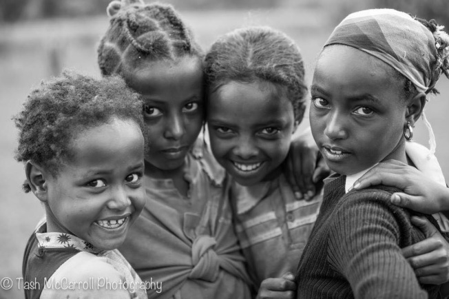 Four friends at a school in Woliso, Ethiopia (September 2014)