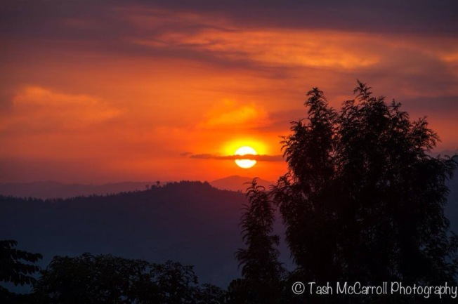 The sun goes down over the land of 1000 hills, Rwanda (July 2014)