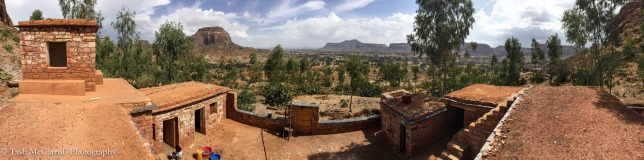 Panorama from guesthouse 2