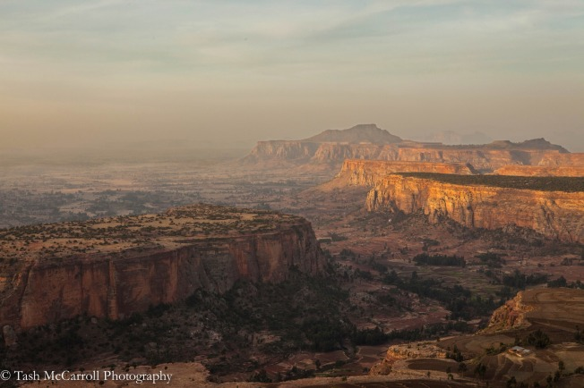 Stunning views across the valley below