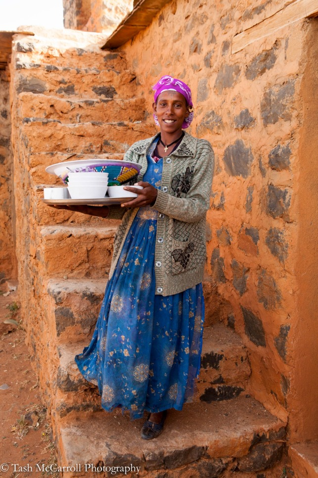 One of the ladies who took care of our meals at the guesthouse