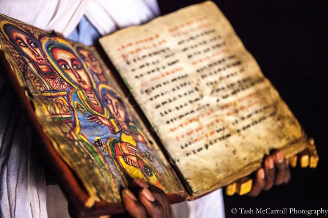 Old texts inside Abun